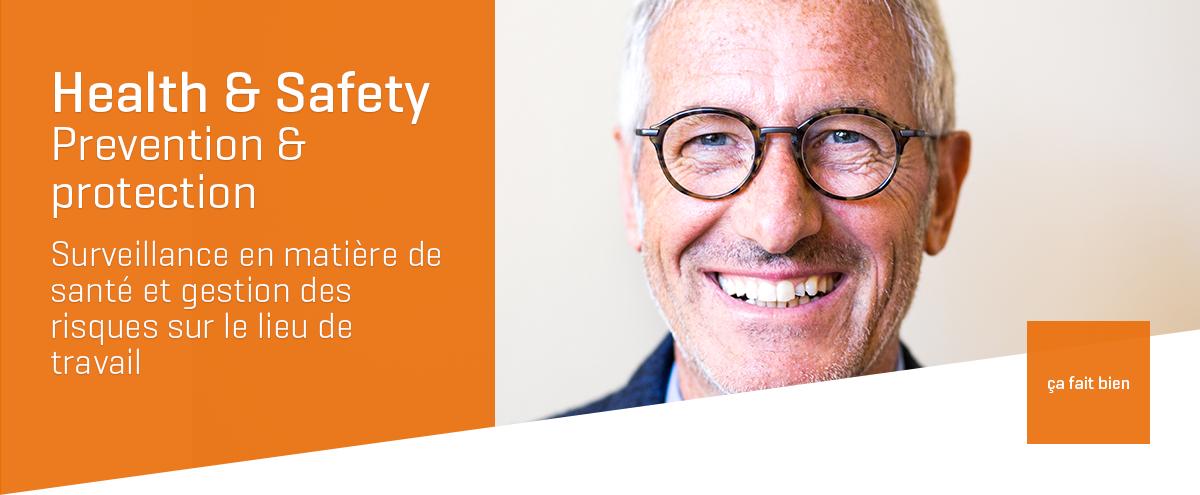 Health & Safety, Prévention & Protection au travail, surveillance en matière de santé et gestion des risques sur le lieu de travail